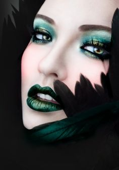 """Black Fantastic"" — Photographer: Olivia Lazer Makeup: Lis Krebs Model: India Gants      ᘡղbᘠ"