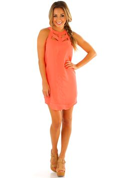 What You See Is What You Get Dress: Neon Coral #shophopes