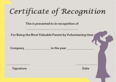 Certificate of Recognition Templates: Best Ideas and Free Samples - Demplates Certificate Of Recognition Template, Printable Certificates, Gift Certificate Template, Kids Awards, Certificate Of Origin, Certificate Of Appreciation, Best Templates, Best Dad, Are You The One