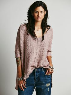 Free People Chunky Oversized Pullover, $108.00.....Perfect sweater with multiple color choices
