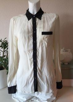 Kaufe meinen Artikel bei #Kleiderkreisel http://www.kleiderkreisel.de/damenmode/langarmlig/110110276-equipment-seide-bluse-hemd-tunika-shirt-creme-weiss-schwarz-gr-m-38-40