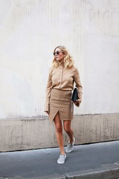 adenorah- Blog mode Paris: ALL BEIGE / camel look / fall / vans slip ons www.redreidinghood.com