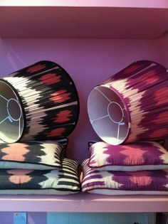 Ikat lampshades from Melodi Horne