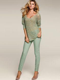Victoria's Secret Models In Skinny Jeans - Fashion Diva Design