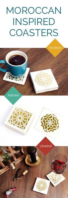 Moroccan Tile Coasters   DIY   Darby Smart   #decor