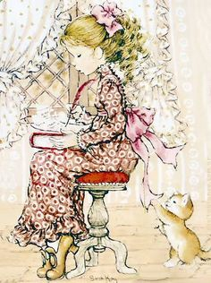 Sie sind so verspielt. Sarah Key, Holly Hobbie, Mary May, Dibujos Cute, Vintage Drawing, Australian Artists, Cute Images, Cute Illustration, Vintage Pictures