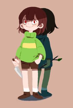 Art by 냐니이이??!? on Twitter - Undertale Chara Frisk