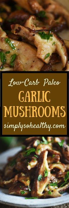 This #Garlic #Mushrooms #Recipe makes a quick and easy side dish. This delicious recipe can be part of a #lowcarb, #keto, #glutenfree, #Paleo, #dairyfree, #whole30, or #Banting diet.