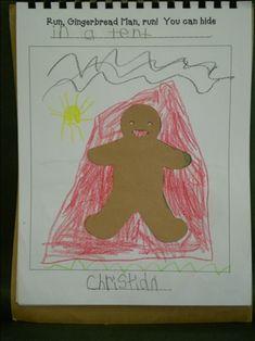 December/gingerbread class book: Run, Run GMan, You can hide in a .....