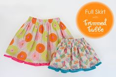 DIY Full skirts with trimmed tulle peeking out......great for spring and summer! :)  www.makeit-loveit.com
