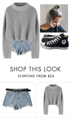 """""""Untitled #6138"""" by hannahmcpherson12 ❤ liked on Polyvore featuring StyleNanda and Converse"""