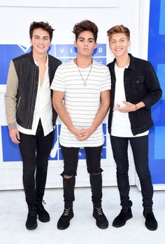 Forever in Your Mind's Emery T. Kelly, Ricky Garcia, and Liam Attridge at the VMAs last night.