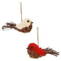 Artfully crafted from natural fibers, these charming songbird ornaments lend a touch of organic appeal to your holiday decor. Prod...
