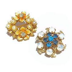 Vintage FLOWER Lapel Pins 1950s Vintage Flower Pins by malibloom, $12.00