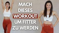 15 MIN GET FIT Workout 💪🏼 Ganzkörper Workout mit Nicht-Springer-Variante... At Home Workouts, Youtube, Crop Tops, Nike, Swimwear, Women, Fashion, Bathing Suits, Moda