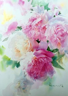 Top Tips for Bringing a Shabby Chic Look Into Your Home - Shabby Chic Decor - Watercolor Rose, Watercolor Landscape, Watercolor Paintings, Shabby Chic Painting, Shabby Chic Decor, Peony Flower, Flower Art, Acrylic Painting Flowers, Amazing Art