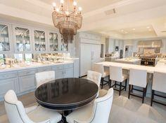 Breakfast room in Jennifer Lopez's California mansion