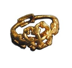 Orval, Les Pleines  (Manche).Bague en or. ( Musée de Normandie,  Caen)