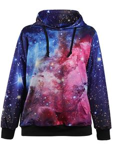 Punk Sweatshirt Women Hoodies New Fashion moletom Suit Outside Tracksuit Print Coat With Pocket sudaderas mujer Check it out! Hooded Long Sleeve Shirt, Long Sleeve Shirts, Hooded Jacket, Long Hoodie, Galaxy Outfit, Galaxy Hoodie, Galaxy Shirts, Galaxy Fashion, Galaxy Print