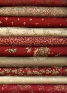 Rouenneries By French General For Moda Fabric 10 Fat Quarters Fat Quarter Bundle #ModaFabrics