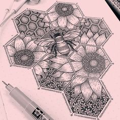 Sweeter Than Honey. Bee Stippling Drawings in Ink. Click the image, for more art by Dylan Brady.Sweeter Than Honey. Bee Stippling Drawings in Ink. Click the image, for more art by Dylan Brady. Easy Pencil Drawings, Cool Art Drawings, Doodle Drawings, Art Drawings Sketches, Disney Drawings, Dotted Drawings, Tattoo Sketches, Tattoo Drawings, Ink Illustrations