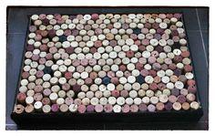 Alfombra de baño hecha con corchos / Cork bath rug - Mamy a la obra