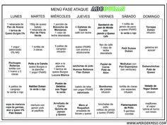 MENU GANADOR DE LA DIETA DUKAN Dukan Diet Plan, Menu Dieta, Diet Motivation Quotes, Healthy Snacks For Adults, Diet Humor, Man Food, 100 Calories, Fitness Diet, I Foods