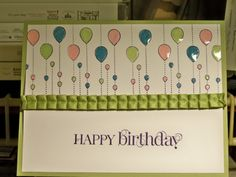 My Friend - Stampin' Up -- never would have thought to use the droplets upside down as balloons! So clever! Friend Cards, Cards For Friends, Kids Birthday Cards, Happy Birthday, Pinterest Cards, Birthday Scrapbook, Kites, Big Project, Stampin Up Cards