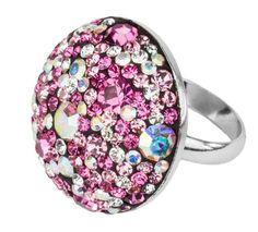Ring aus 925 Sterling Silber rhodiniert mit Kristallsteinen aus der Curl-Design Serie.  Handgefertigt!  www.schmuck-design24.de