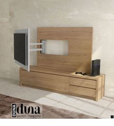 Stylish TV Unit in 4 Size Options with Extending TV Bracket by Baixmoduls Living Room Tv Unit, Interior Design Living Room, Living Room Designs, Tv Unit Design, Tv Wall Design, Wall Tv Stand, Swivel Tv Stand, Tv Unit Furniture, Modern Tv Units