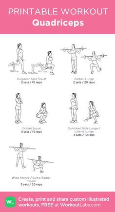 31 best quad exercises images  quad exercises exercise