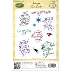 Cmas Thght-justrite Cling Stamp