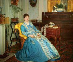 Gustave L. De Jonghe Lady in Blue 19th century