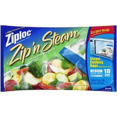 Ziploc Zip'N Steam Bags , FDA approved, BPA free. Store up fresh or frozen veggies in the freezer for quick microwave meals or snacks. Teenagers and college students can have a healthy meal in just a few minutes without Mom's help.