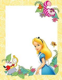 Alice in Wonderland Stationary printable Scrapbook Da Disney, Disney Frames, Alice Tea Party, Alice In Wonderland Tea Party, Alice In Wonderland Characters, Mad Hatter Tea, Note Paper, Writing Paper, Paper Dolls
