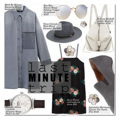 """우리 어디가는거야 ?"" by nindi-wijaya ❤ liked on Polyvore featuring MM6 Maison Margiela, Rebecca Minkoff, Aquatalia by Marvin K., Shinola, Ray-Ban, Vince Camuto and lastminutetrip"