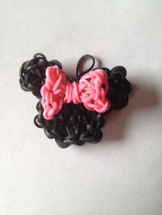 Minnie Mouse rainbow loom charm (design on my rainbow loom patterns board)