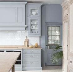 The blue cabinetry caught our eye in this picture this morning! That color is just the perfect shade! What a lovely kitchen from…