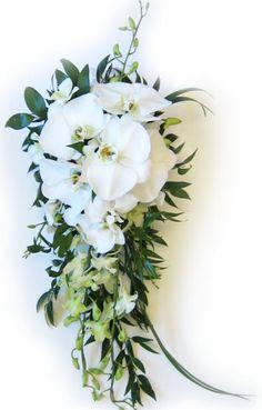 White Hawaiian orchids...found my wedding bouquet! From www.hawaiiflowerlei.com