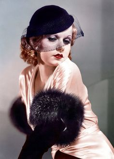 Jean Harlow...By the mid-1930s, Harlow was one of the biggest stars in the United States and, it was hoped, MGM's next Greta Garbo.