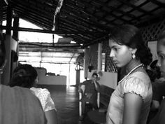 Women waiting for their turn at the Women's health checkup in SwaSwara. Gokarna, Karnataka