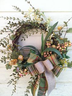 Country Wreath for Fall Everyday Wreath with by marigoldsdesigns, $49.00