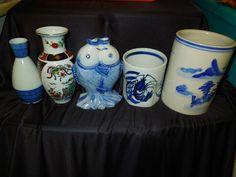 Vintage antique Asian vases for sale on Ebay.  Very unique!