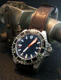Wilson Watch Works aka Kemmner Octopus on a vintage Swiss Allison Leatherworks strap