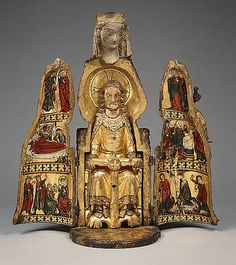 Medieval shrine from the MET Museum Madonna, Images Of Mary, Sculptures Céramiques, Medieval Art, Renaissance Art, Religion, Saints, Kirchen, Religious Art