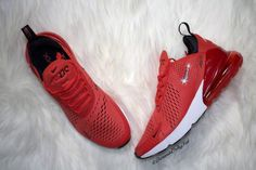 4bb7de1baf82 Swarovski Women s Nike Air Max 270 Red Black   White Sneakers Blinged Out  With Authentic Clear Swarovski Crystals Custom Bling Nike Shoes