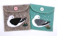 Beautiful little felt pouches