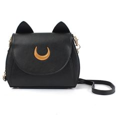 Sweet Women's Crossbody Bag Cat Shoulder Bags With Moon Print and Ear Pattern Design