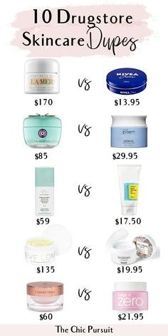 10 Drugstore Skincare Dupe For The Most Popular Products - Including anti aging skincare dupes, high end skincare dupes like La Mer moisturiser dupe, Drunk Elephant dupes, Glossier dupes, Fresh Soy Fa Anti Aging Creme, Anti Aging Skin Care, Natural Skin Care, Natural Beauty, Aging Cream, Beauty Care, Beauty Skin, Beauty Tips, Beauty Hacks