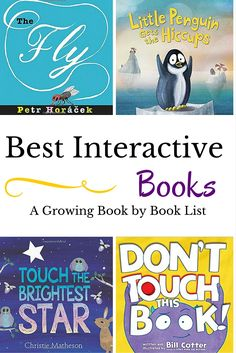 The newest and greatest interactive books for kids to add to your bookshelf. Preschool Books, Toddler Preschool, Book Activities, Toddler Storytime, Preschool Bulletin, Activity Books, Toddler Activities, Interactive Books For Kids, Interactive Read Aloud